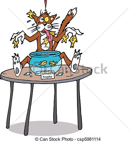 Cat On The Table Clipart A Cat Sitting On A Table