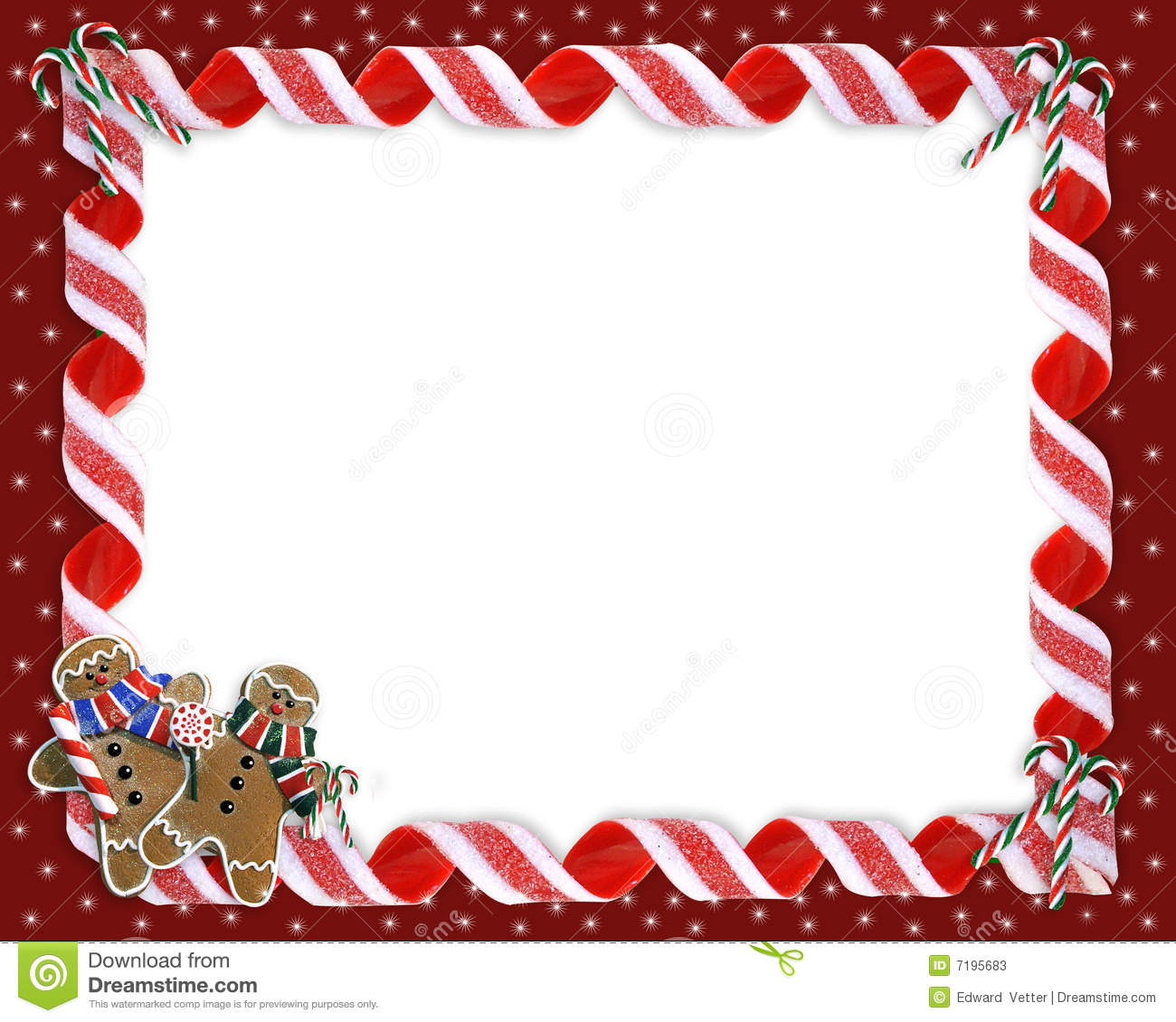 Christmas Holiday Background Border Or Photo Frame With Copy Space