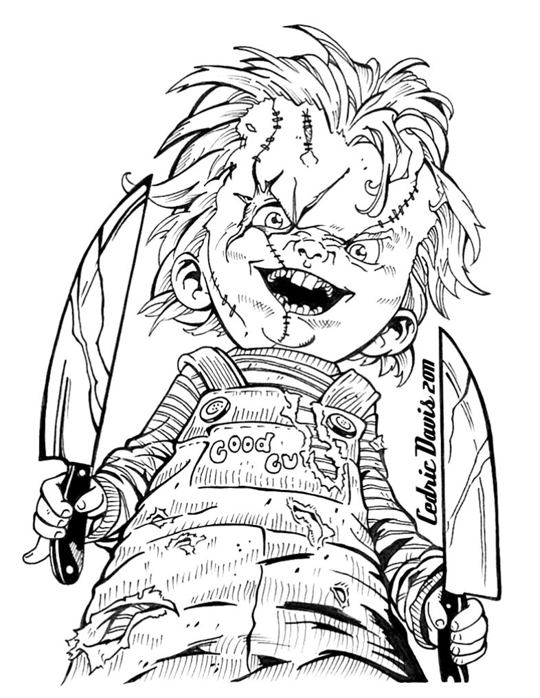 Coloring Pages Chucky Doll Coloring Pages chucky doll coloring pages eassume com eassume