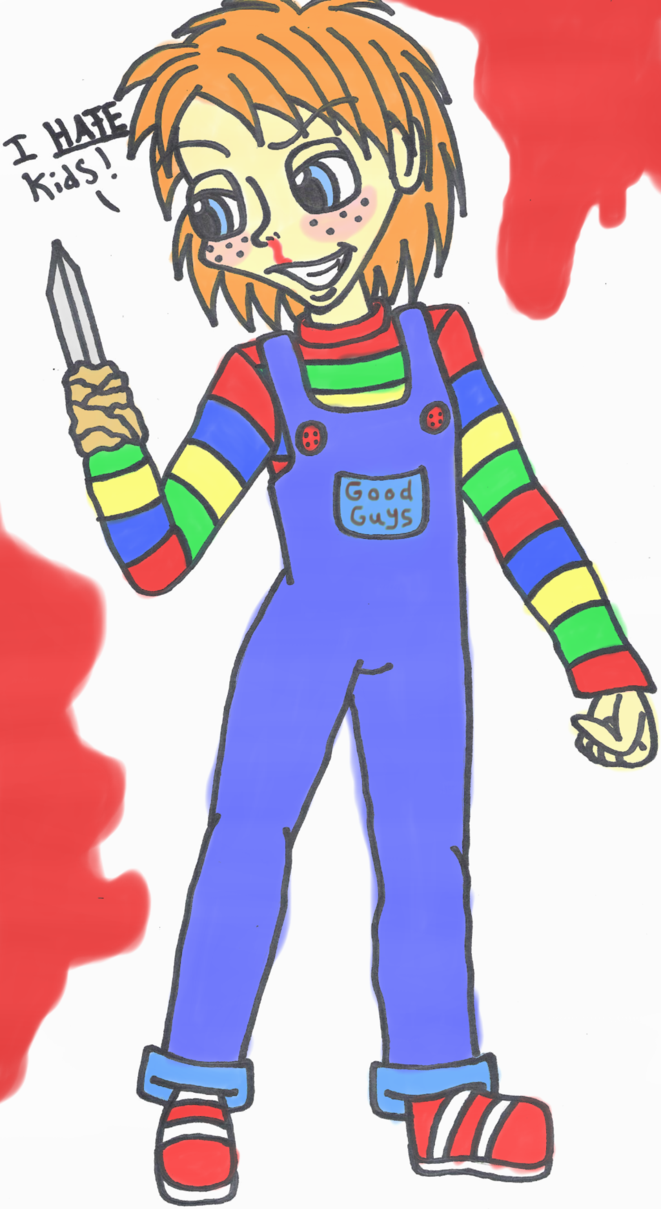 Chucky By Sonicshadowlover13 Fan Art Traditional Art Drawings Movies