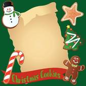 Clip Art Cookie Border Christmas Cookie Recipe Or