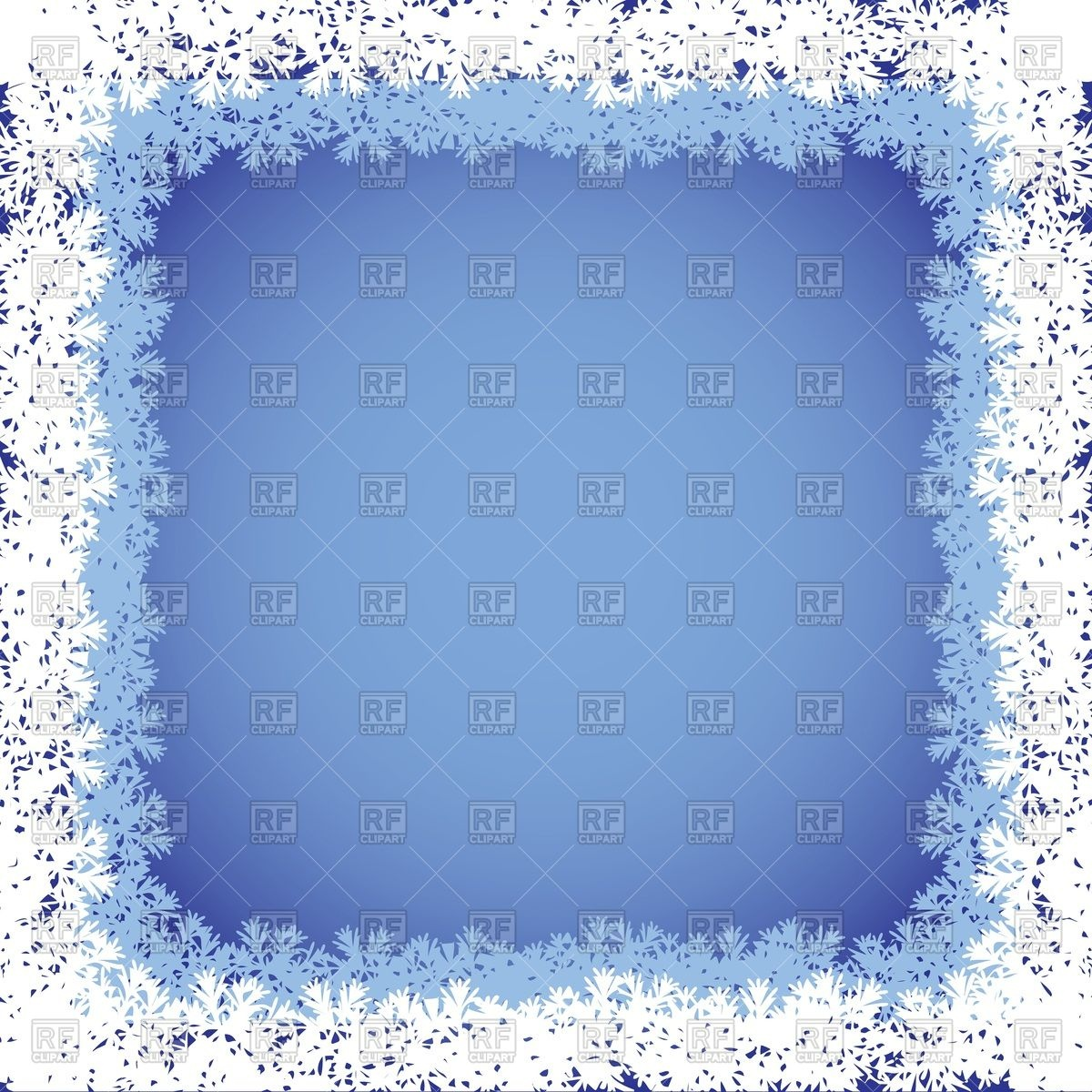 Frame With Frosty Border Download Royalty Free Vector Clipart  Eps