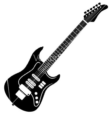 Guitar Silhouette Clipart - Clipart Kid