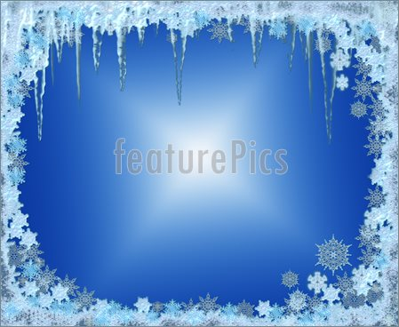 Icicles Border Clipart Winter Seasonal Frame With