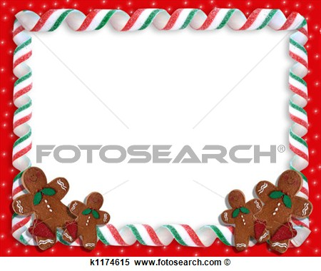 Illustration   Christmas Cookies Border  Fotosearch   Search Clipart