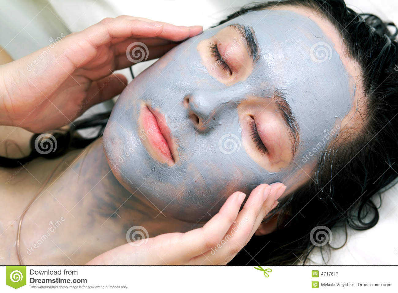 Mud Mask On Face Royalty Free Stock Photography   Image  4717617