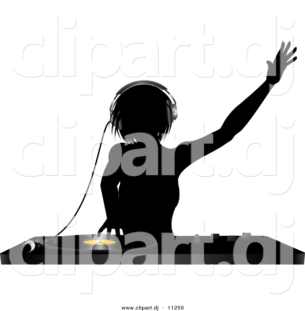 Royalty Free Disc Jockey Stock Music Clipart Illustrations