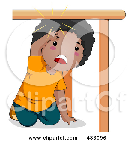 Royalty Free  Rf  Clipart Illustration Of A Hurt Girl Slipping On A