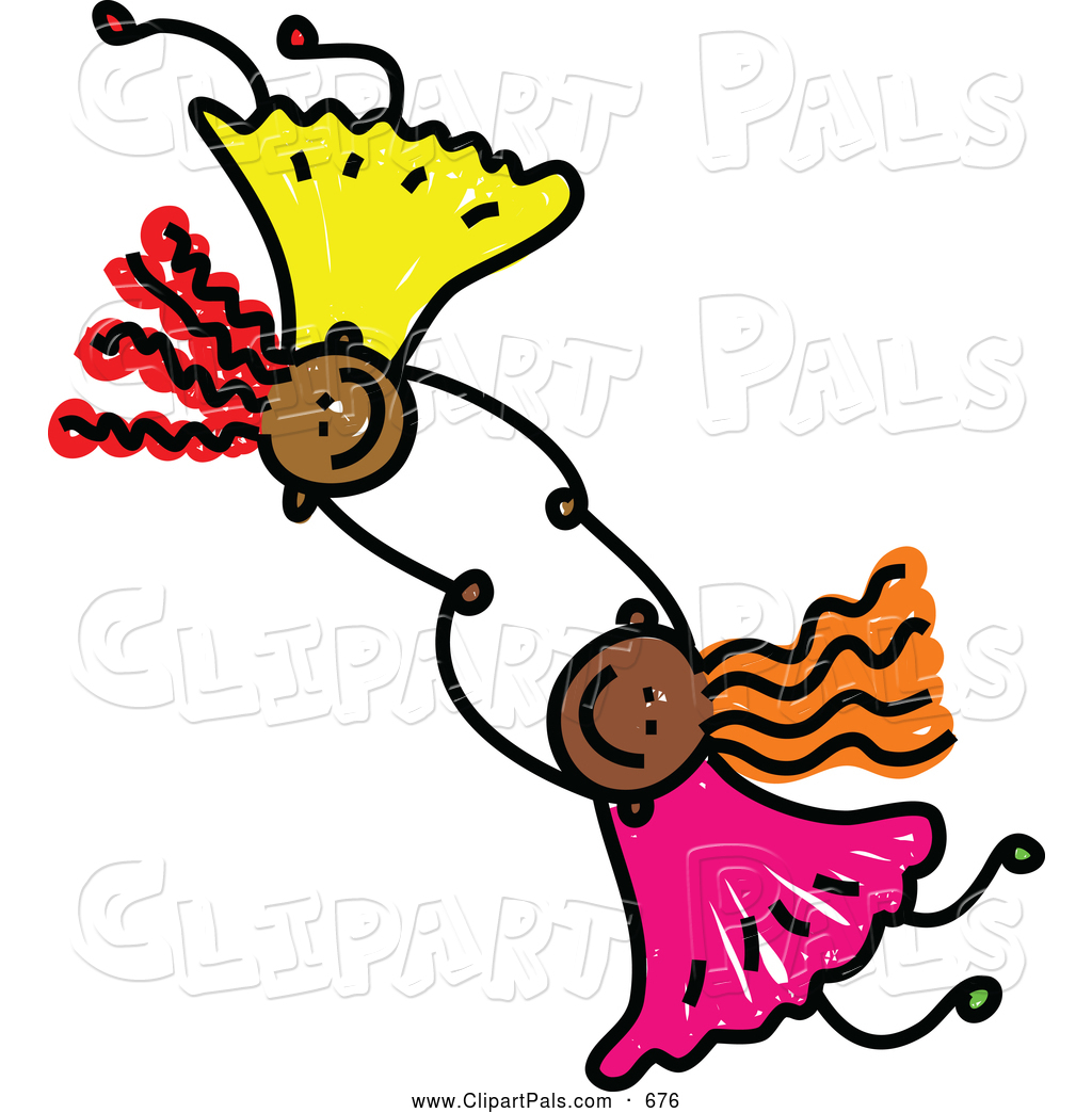 Sisters Holding Hands Clipart - Clipart Kid