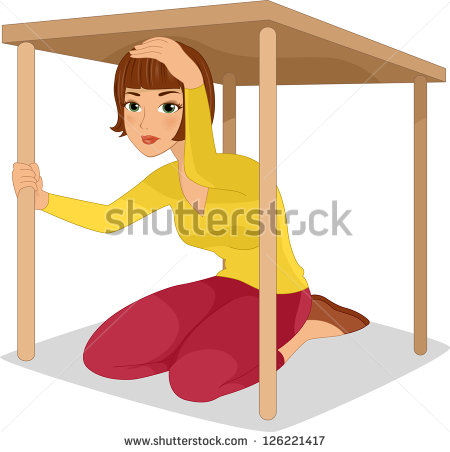 Under The Table Clipart Woman Hiding Under A Table
