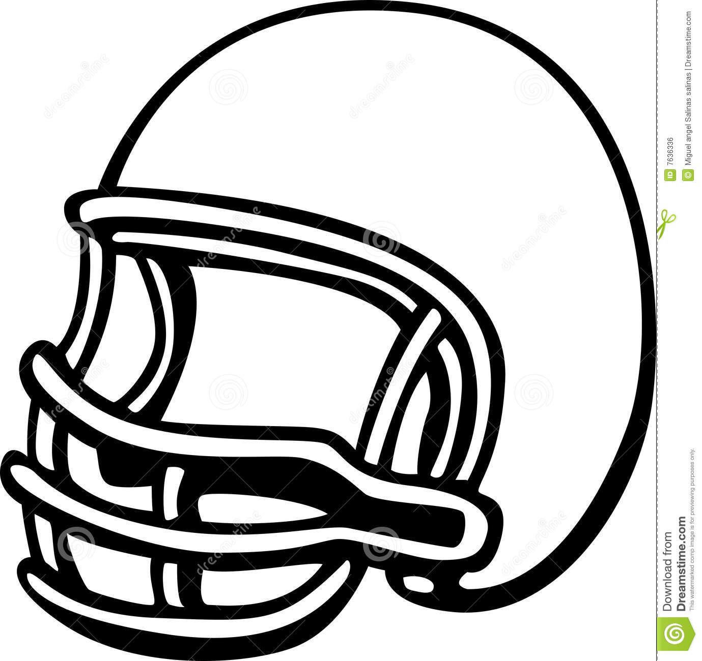 American Football Clipart Black And White Football Helmet Vector