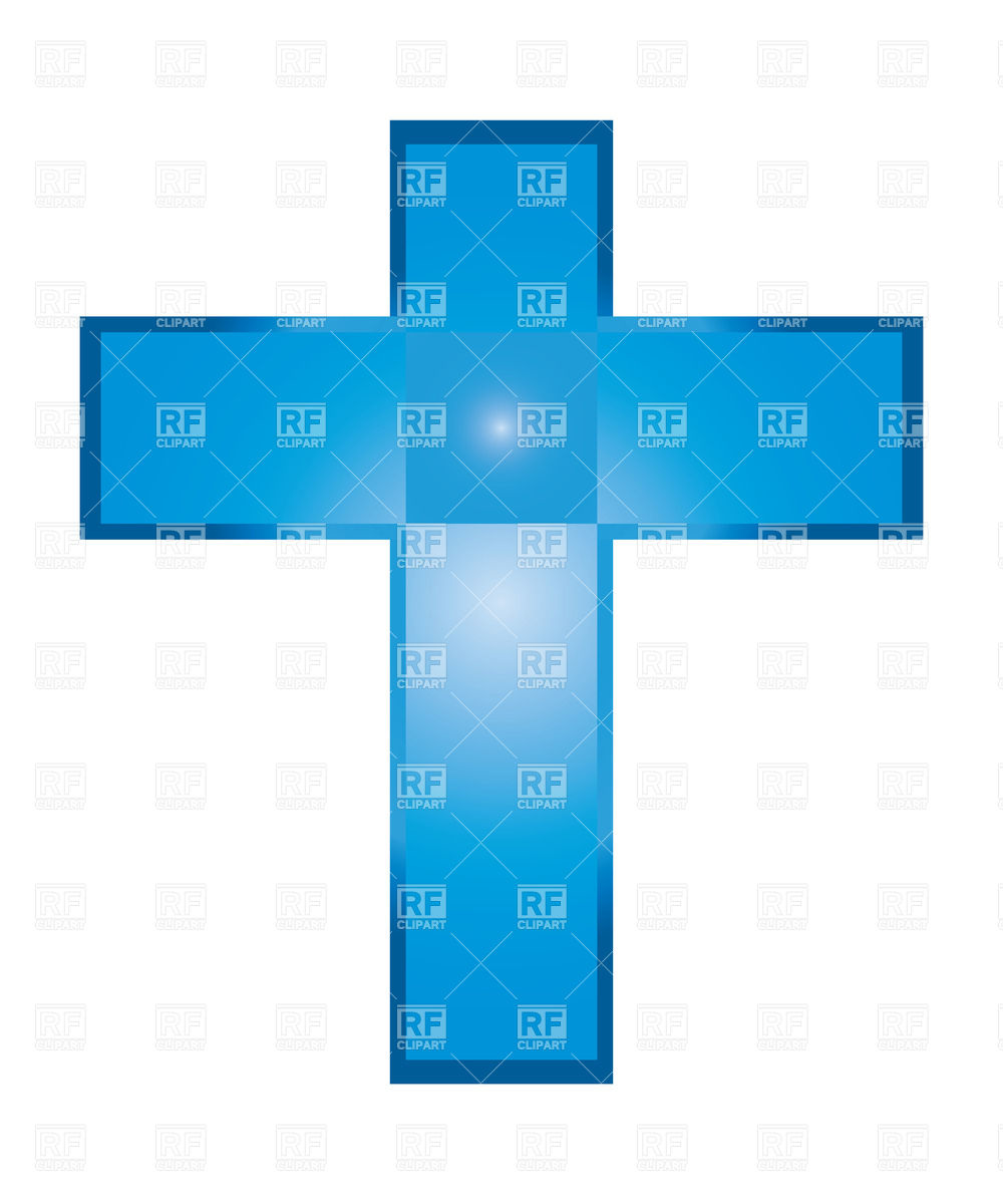 Blue Cross Baptism Blue Christian Cross Isolated On White Download