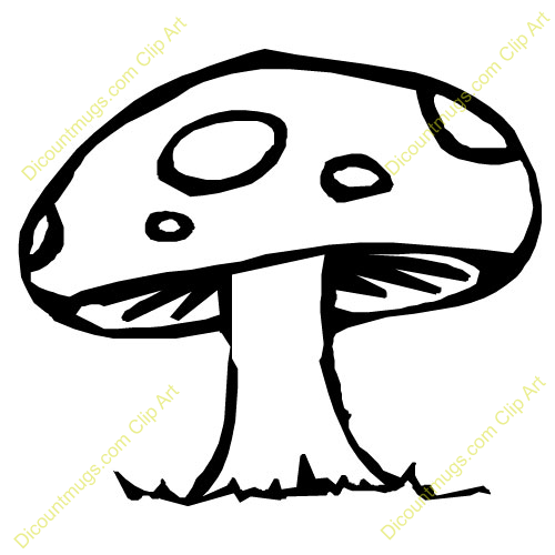 Clipart 10385 Mushroom   Mushroom Mugs T Shirts Picture Mouse Pads