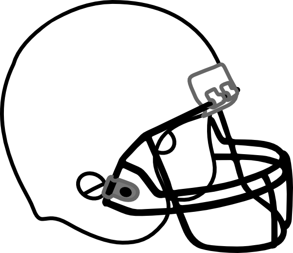 Clipart Football Helmet Black And White   Clipart Panda   Free Clipart