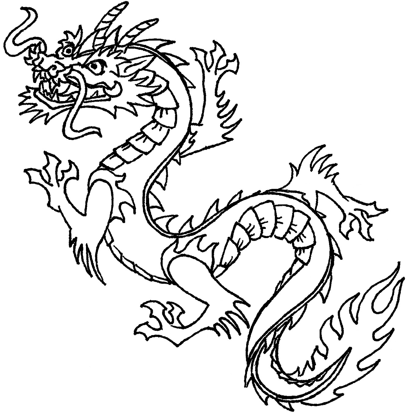Easy Dragon Drawings Black And White Free Cliparts That You Can