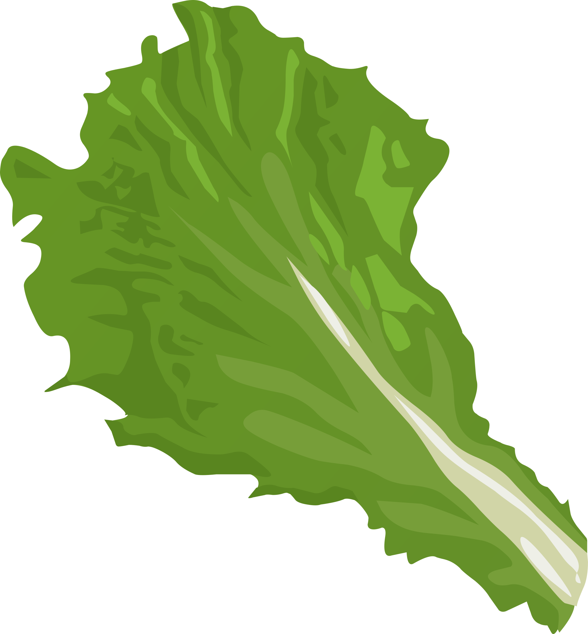 Food Green Leaf By Glitch