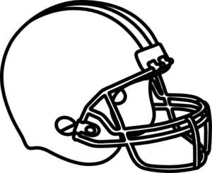 Football Helmet Clipart Black And White   Clipart Panda   Free Clipart