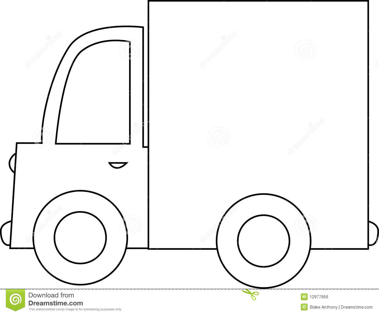 Moving Truck Black And White Clipart - Clipart Suggest