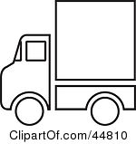 Gallery For > Delivery Truck Clipart Black And White