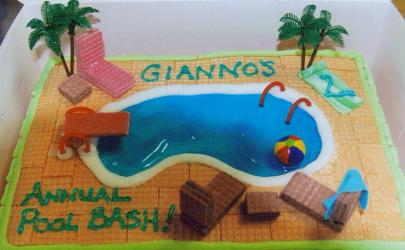 Swimming Pool Party Birthday Cakes #2XFicZ - Clipart Kid
