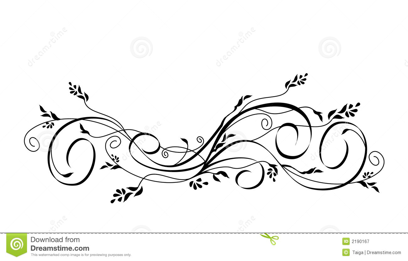 Vector Floral Scroll Ornament Royalty Free Stock Photography   Image