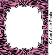 Vector Frame With Abstract Zebra Skin Texture And Copy Space