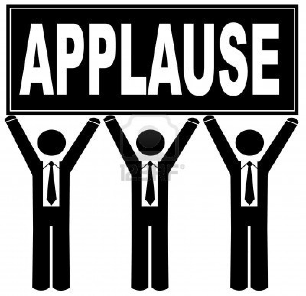 Applause Images Clip Art Give A Round Of Applause For