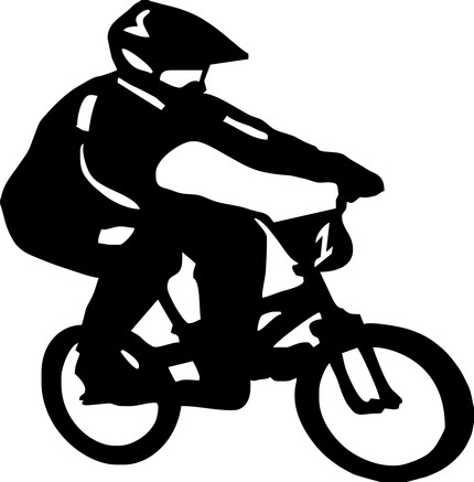 Biker Decal Sticker Wall Sports Cool Boy Girl Nursery Bmx Bike