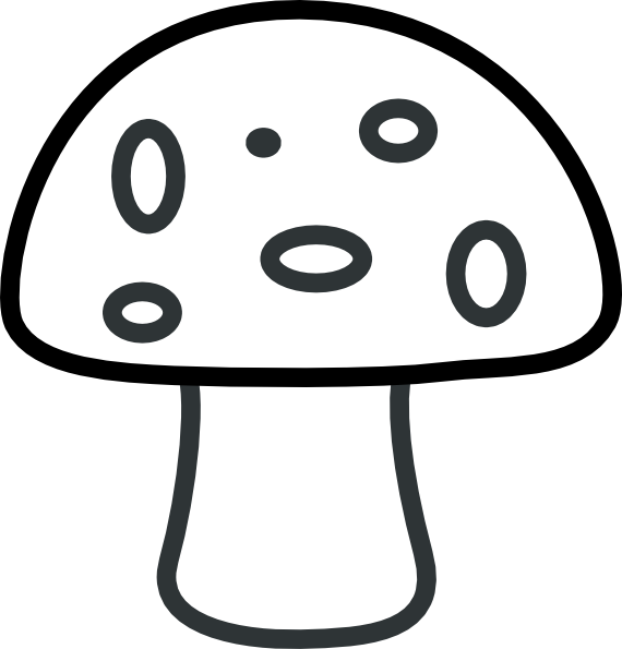 Clip Art Mushroom Clip Art black and white mushroom clipart kid clip art at clker com vector art