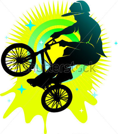 Browse   Sports   Recreation   Youth Bmx Cyclist Style Illustration