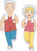 Clipart Senior Exercise Stock Illustration Of Elderly Couple Doing