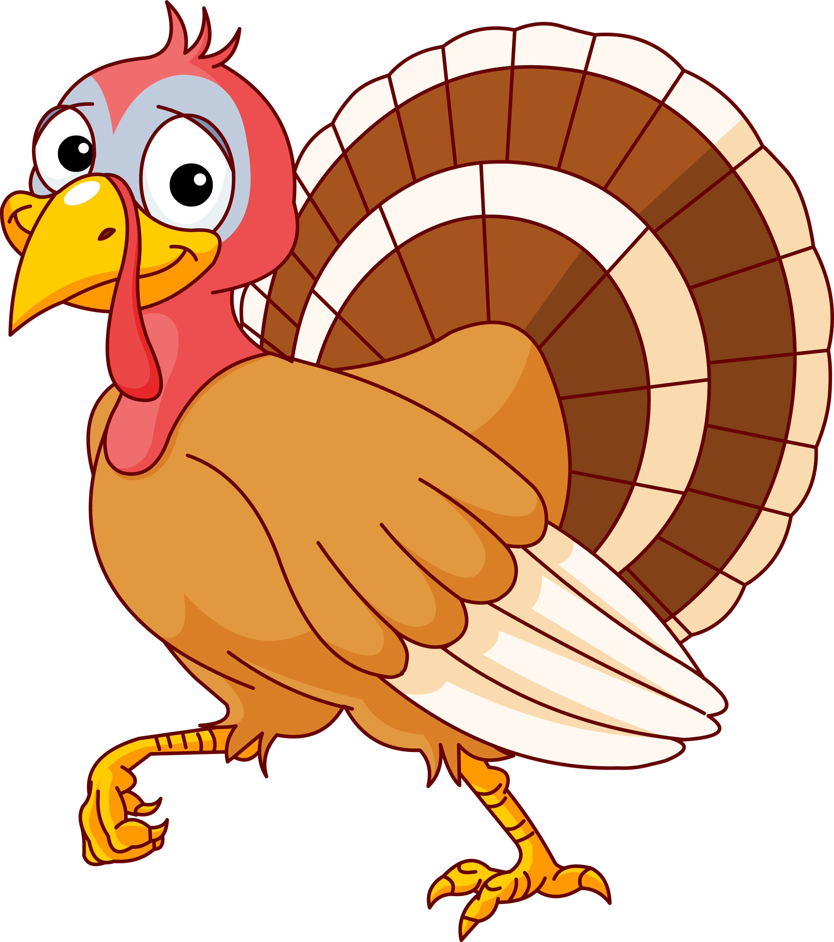 Turkey To Color Clipart - Clipart Kid