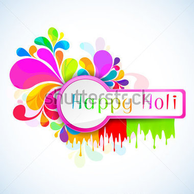 Of Colorful Color Splash In Holi Background Stock Vector   Clipart Me