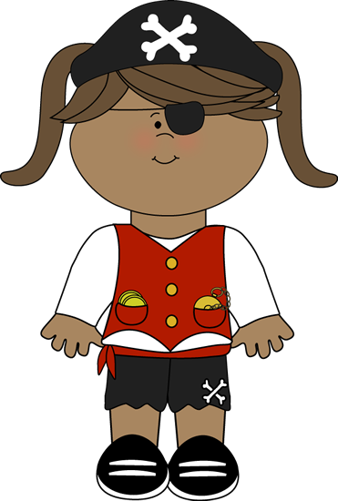 Pirate Girl Clip Art Image   Pirate Girl In Red And Black Pirate