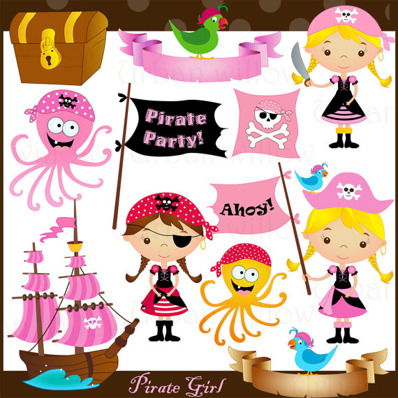 Pirate Girl Png   Jpeg Clip Art Images  By Littlepumpkinspix
