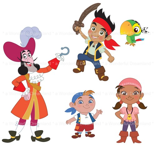 Printable Clip Art Clipart Digital Pdf Png File  Pirate Boy Girl