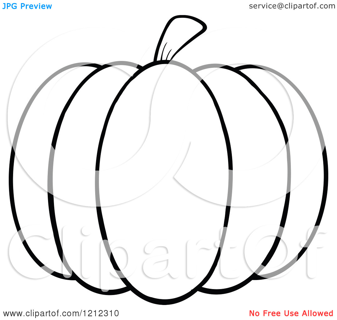 Pumpkin Outline Clipart Black And White   Clipart Panda   Free Clipart
