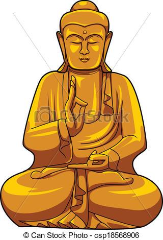 Clip Art Buddha Clipart buddha clipart kid vector of csp18568906 search clip art illustration