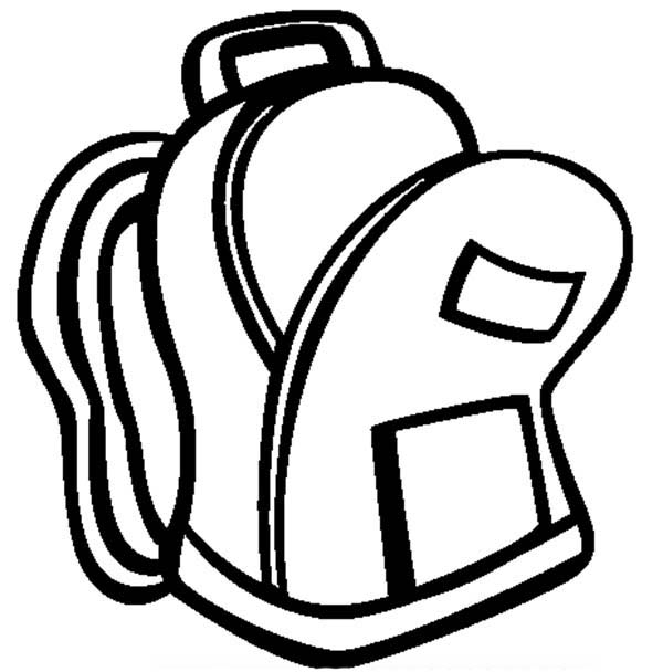 Backpack An Open Backpack Coloring Pages  An Open Backpack Coloring