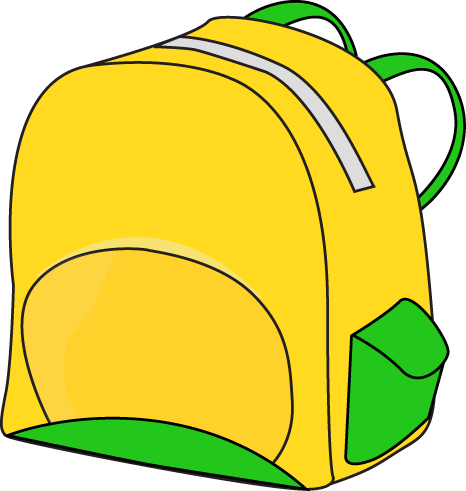 Backpack Clip Art Yellow Backpack Clip Art Image