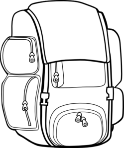 Backpack Clipart Black Backpack Md Png