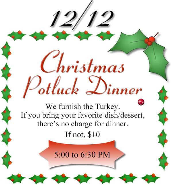Christmas Potluck Clipart