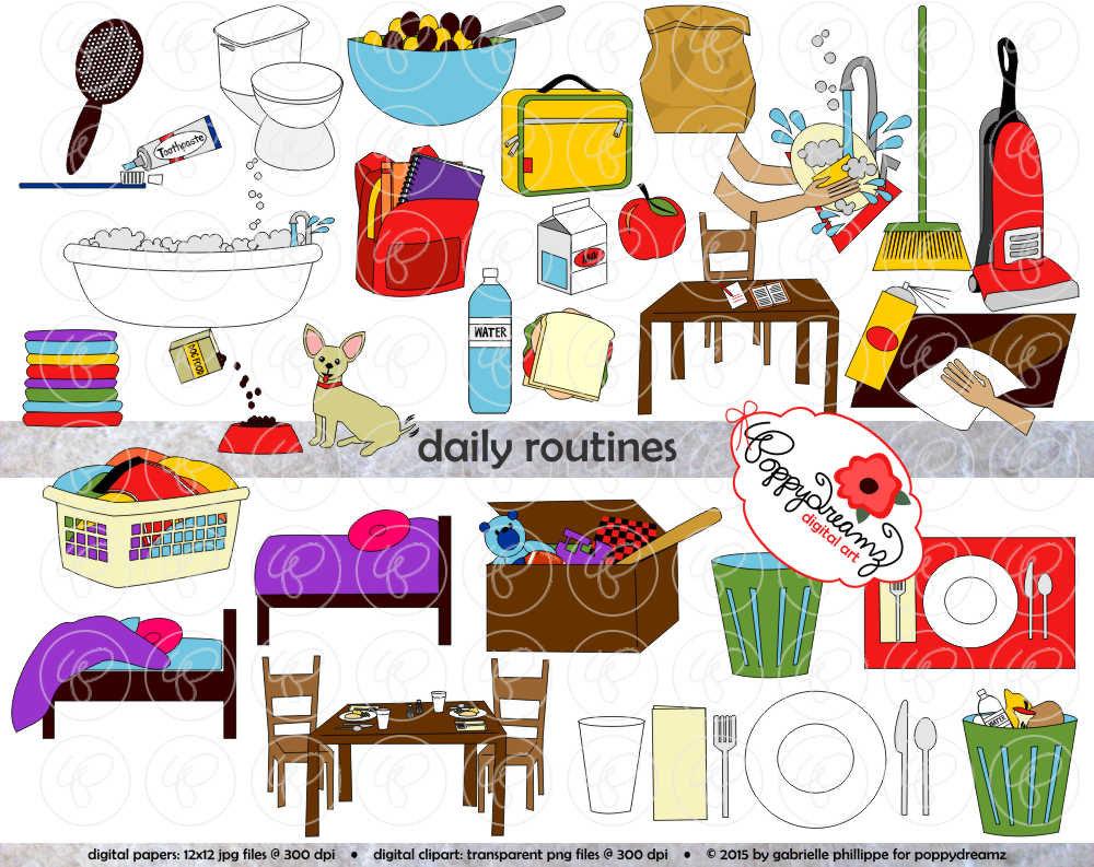 daily routine clip art  u2013 cliparts