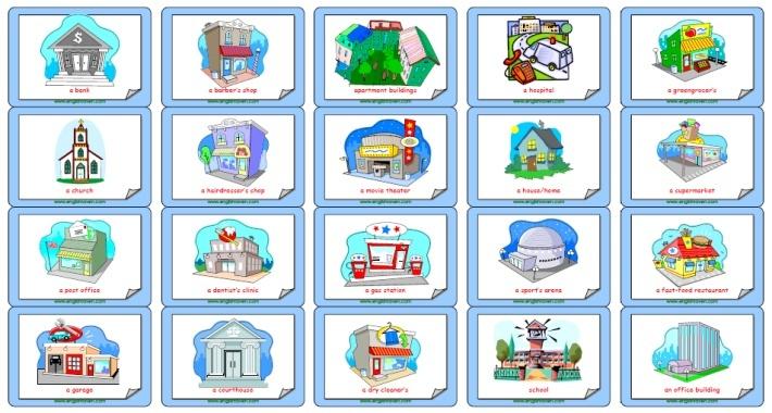 Esl Flashcards Forplaces In A Town Esl Flashcards Pinterest #JB36ib ...