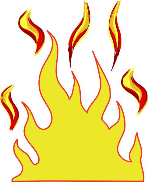 Flames-vector Clipart - Clipart Suggest