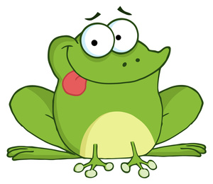 Frog Clipart Image   Cute Cartoon Frog With Tongue Stocking Out