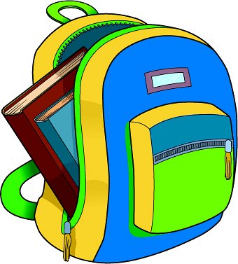 Open Backpack Clipart Backpack Jpeg