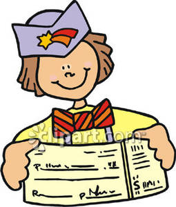 Paycheck Clipart Boy Showing His First Paycheck Royalty Free Clipart