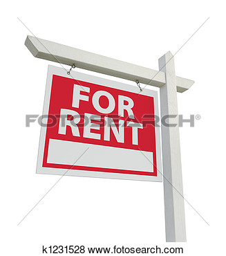 Rent Due Clipart Stock Illustration   For Rent Real Estate Sign