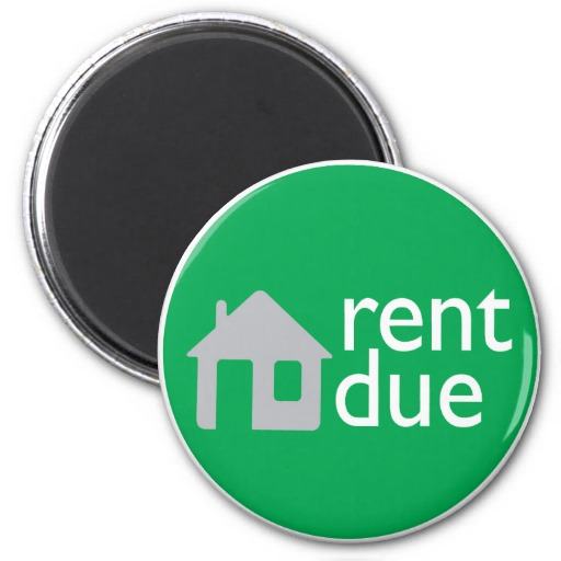 Rent Due Rent Due Refrigerator Magnets